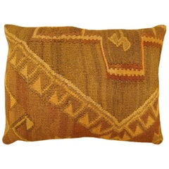 Vintage Decorative Turkish Kilim Oriental Rug Pillow