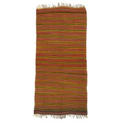 Vintage Turkish Kilim Rug with Mid-Century Modern Style