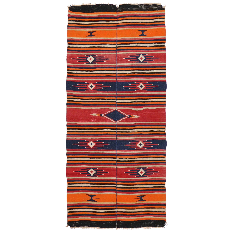31a76da9e Vintage Persian Shiraz Kilim Rug with Tribal Style, Flat-Weave Kilim Rug at  1stdibs