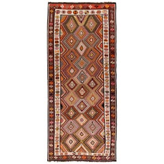 Vintage Turkish Kilim Runner Rug, 5'9 x 14'7