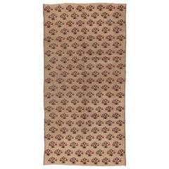 Vintage Turkish Konya Gallery Carpet, Floral Allover Design
