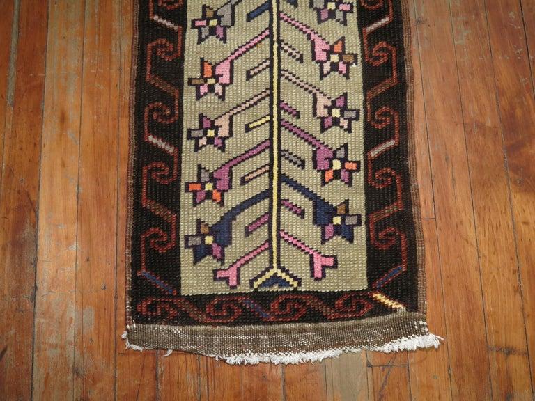 Tribal vintage Turkish Konya rug from the mid-20th century.