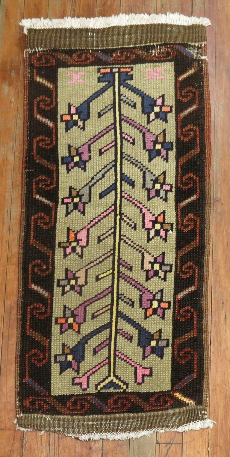 Hand-Woven Vintage Turkish Konya Rug For Sale