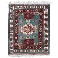 Vintage Turkish Konya Rug Kazak Design