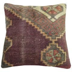 Vintage Turkish Lavender Rug Pillow