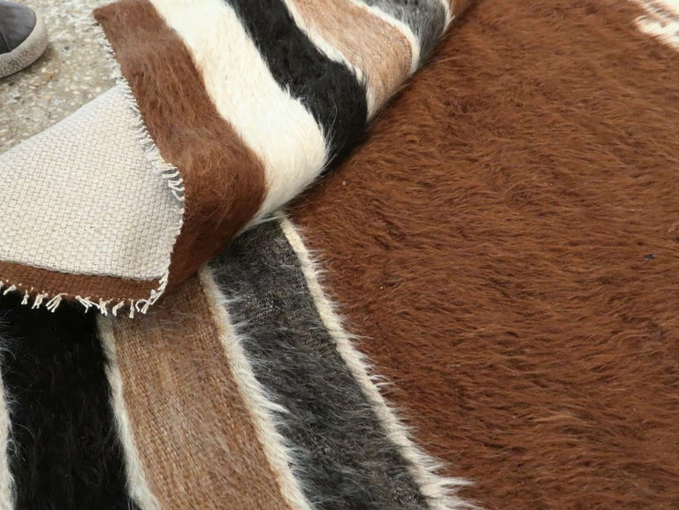 Vintage Turkish Mohair Rug For Sale 4