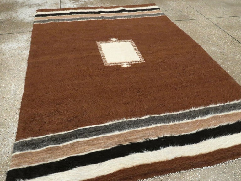 Vintage Turkish Mohair Rug In Excellent Condition For Sale In New York, NY