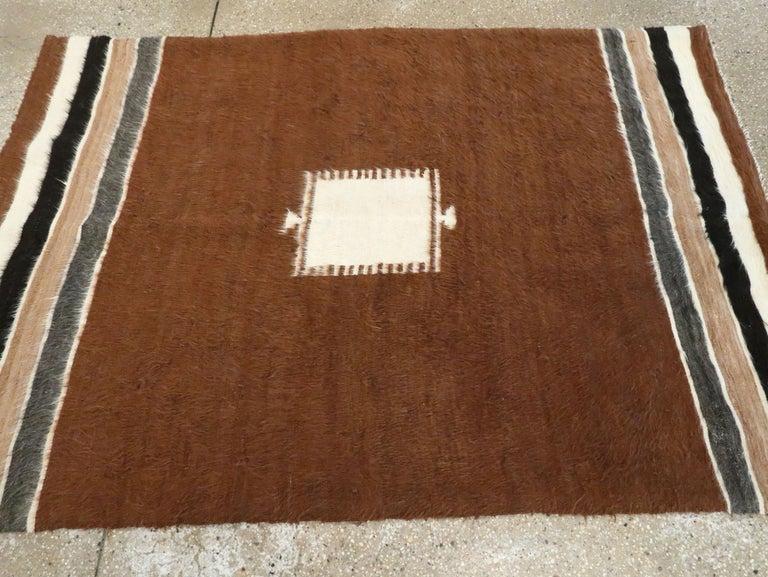 Vintage Turkish Mohair Rug For Sale 2