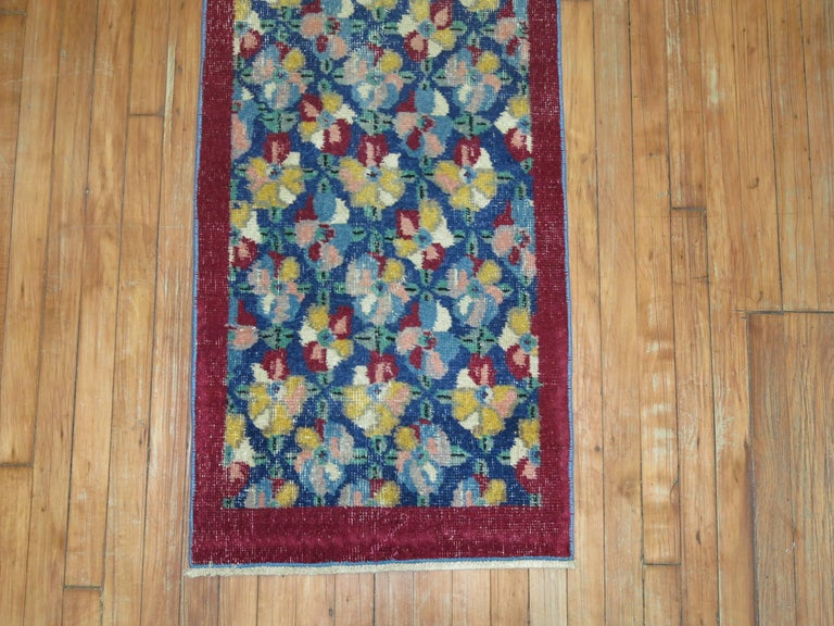 Vintage Turkish Narrow Runner In Excellent Condition For Sale In New York, NY
