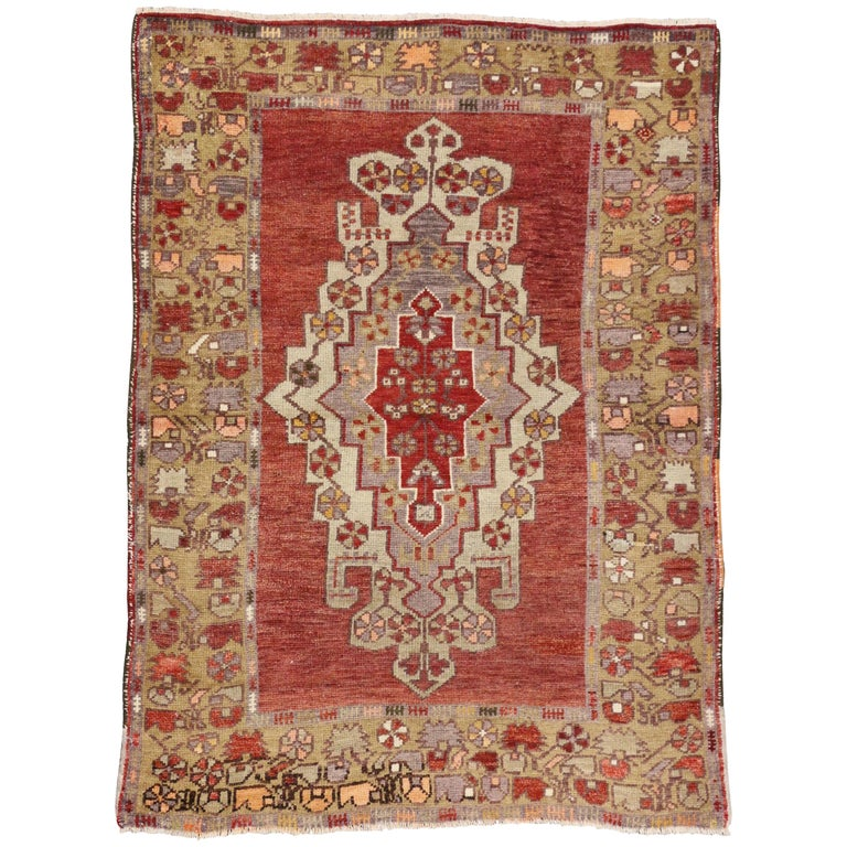 Foyer Rugs Sale : Vintage turkish oushak accent rug entry or foyer for