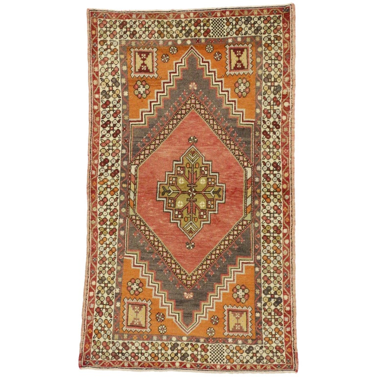 Foyer Rugs For Sale : Vintage turkish oushak accent rug entry or foyer for
