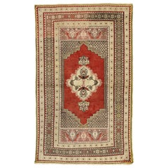 Vintage Turkish Oushak Accent Rug for Kitchen, Foyer, Bathroom or Entry Rug