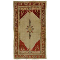 Vintage Turkish Oushak Accent Rug