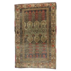 Vintage Turkish Oushak Accent Rug with Arts & Crafts Style