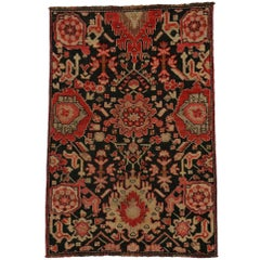 Vintage Turkish Oushak Accent Rug with Traditional Modern Style