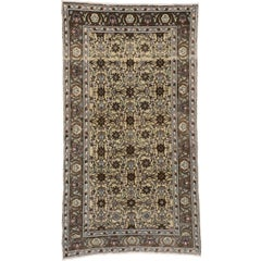 Vintage Turkish Oushak Area Rug with All-Over Herati Design