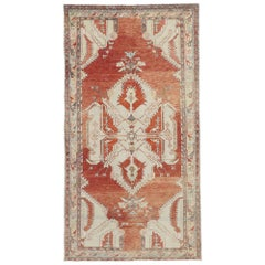 Vintage Turkish Oushak Gallery Rug with Modern Rustic Tribal Style