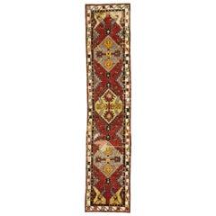Vintage Turkish Oushak Hallway Runner with Artisan Tribal Style