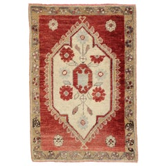 Vintage Turkish Oushak Rug Accent Rug