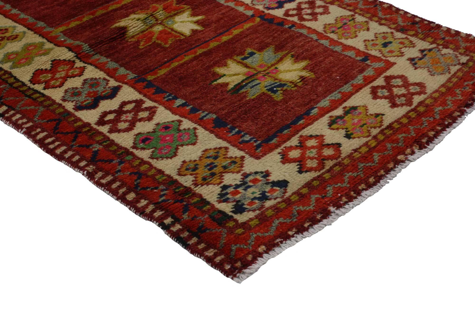 Vintage Türkischer Oushak Teppich, Bunter Teppich Für Küche, Bad, Foyer  Oder Eingangsbereich 3