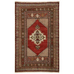Vintage Turkish Oushak Rug, Entry or Foyer Rug