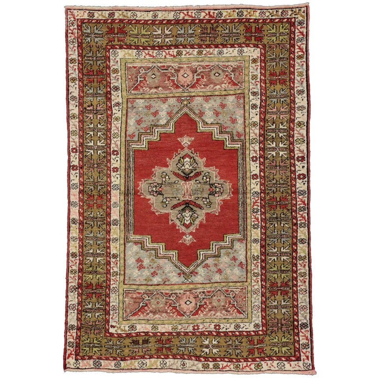 Foyer Rugs Sale : Vintage turkish oushak rug entry or foyer for sale at