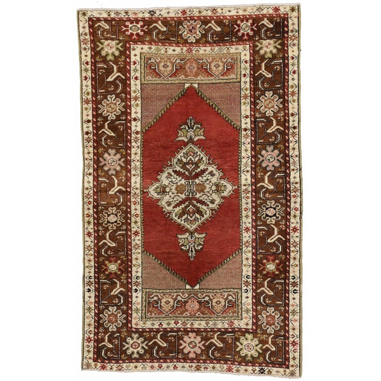 Foyer Rugs For Sale : Vintage turkish oushak rug entry or foyer for sale at