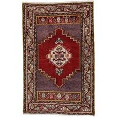 Vintage Turkish Oushak Rug for Entry, Kitchen, Bathroom, or Foyer Rug