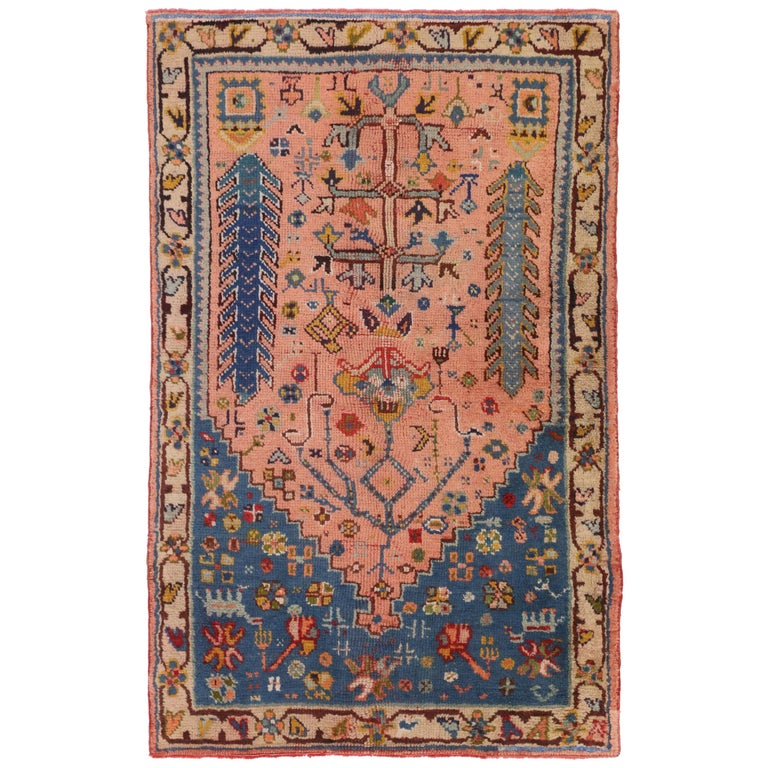 Foyer Rugs Sale : Vintage turkish oushak rug for kitchen bath foyer or