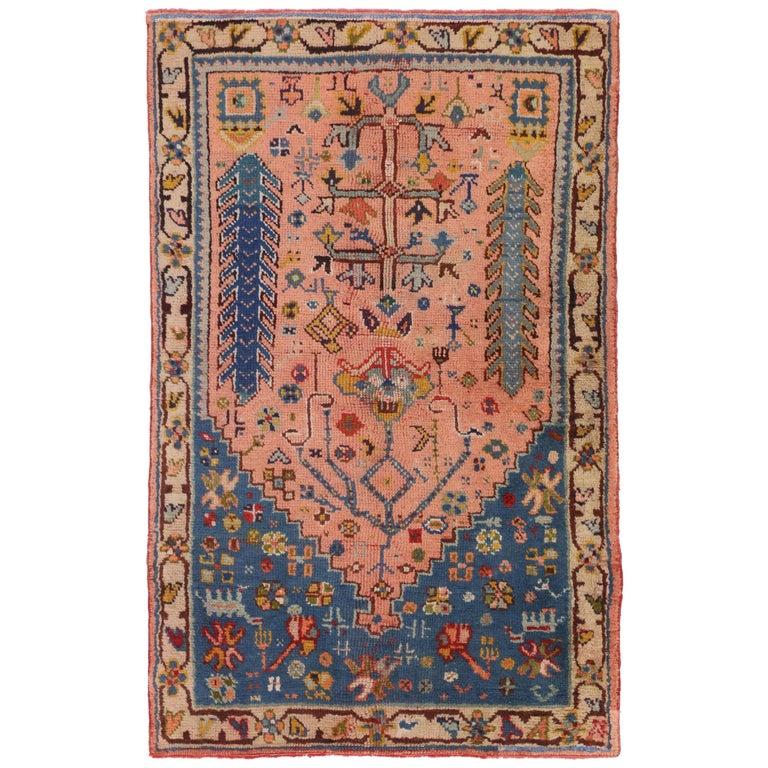 Foyer Rugs For Sale : Vintage turkish oushak rug for kitchen bath foyer or