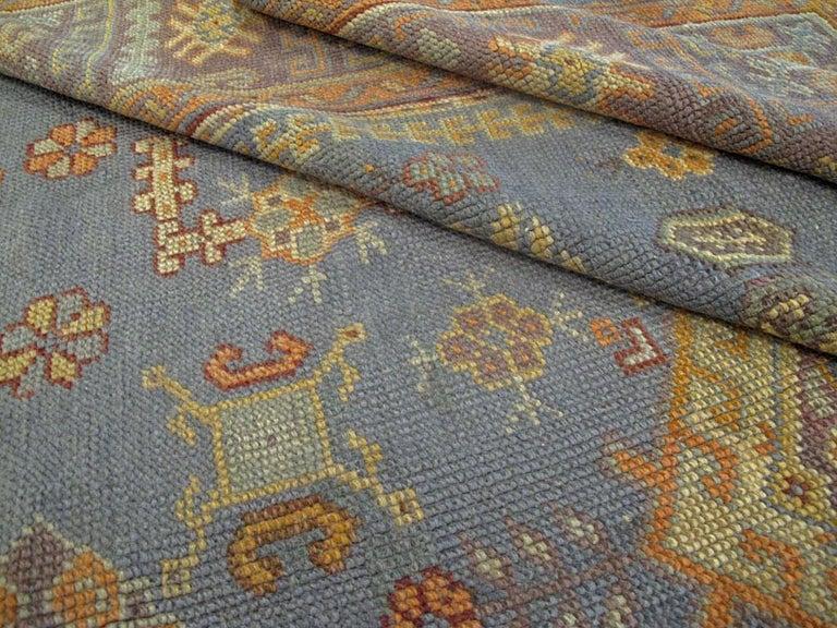 Vintage Turkish Oushak Rug For Sale 4