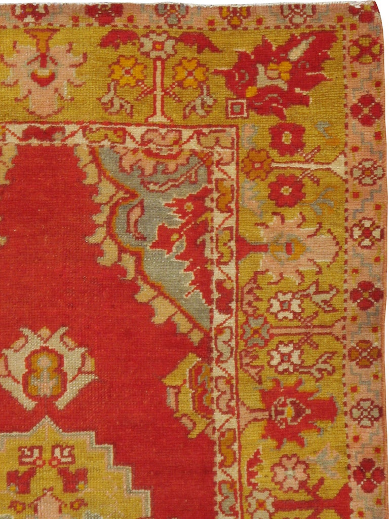 A vintage Turkish Oushak rug from the mid-20th century.  Measures: 2' 11
