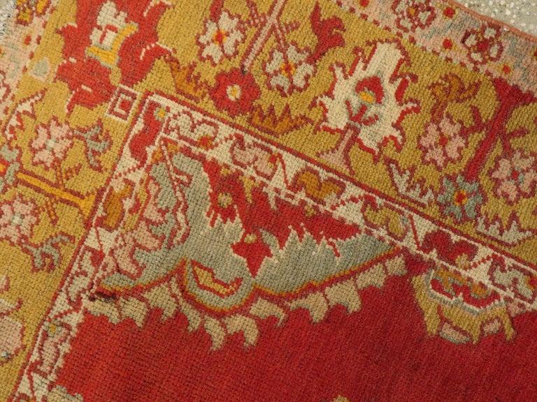 Vintage Turkish Oushak Rug For Sale 1