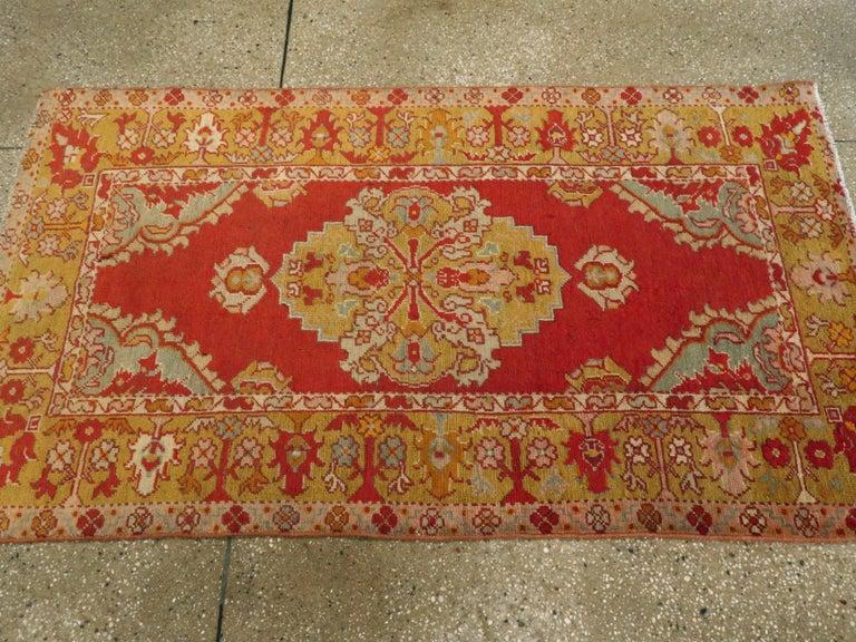 Vintage Turkish Oushak Rug For Sale 2