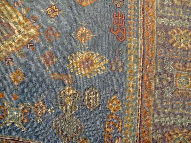 Vintage Turkish Oushak Rug For Sale 3