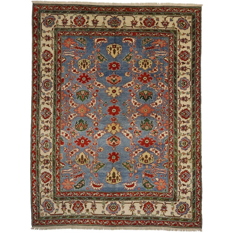 Vintage Turkish Oushak Rug For Sale