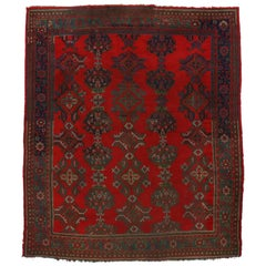 Antique Turkish Oushak Rug, Thomas Eakins Inspired Rug
