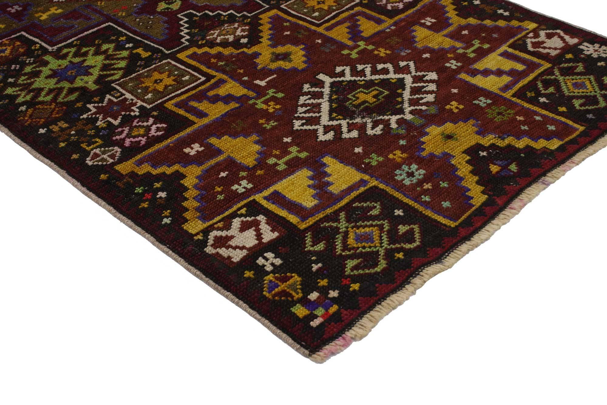 Vintage Türkischen Oushak Teppich, Stammes Teppiche Für Küche, Bad, Foyer  Oder Eingangsbereich 3