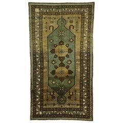 Vintage Turkish Oushak Gallery Rug, Anatolian Turkish Prayer Rug