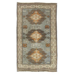 Vintage Turkish Oushak Rug with Artisan Belgian Style and Soft Colors