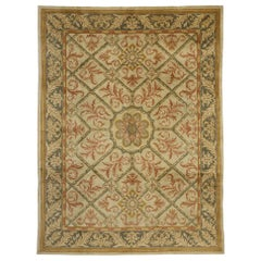 Vintage Turkish Oushak Rug with Elizabethan Style and French Influence