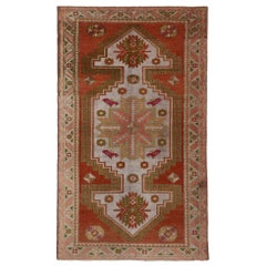 Vintage Turkish Oushak Rug with English Country Style