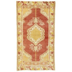 Vintage Turkish Oushak Rug with French Provincial and Rococo Style
