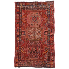 Vintage Turkish Oushak Rug with Modern Tribal Style