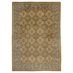Vintage Turkish Oushak Rug with Neoclassical European Style and Soft Colors