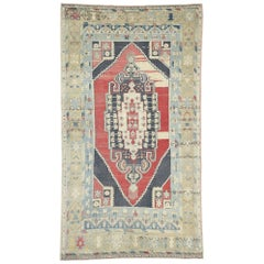 Vintage Turkish Oushak Rug with Relaxed Federal Style