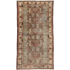 Vintage Turkish Oushak Rug with Traditional Medallion Design