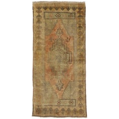 Vintage Turkish Oushak Rug with Traditional Style, Muted Washed Out Colors