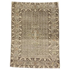 Vintage Turkish Oushak Rug with Transitional William and Mary Style
