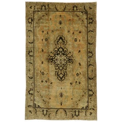 Vintage Turkish Oushak Rug with Warm Luxe Home Style